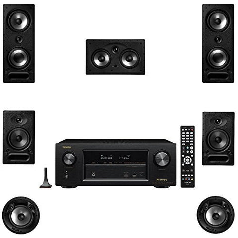 Polk Audio 265RT 7 Speaker Package with 65RT 80FXRT and Denon AVRX2300W AV Receiver - Super Electronics Warehouse