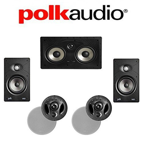 Polk Audio 700-LS + Polk Audio V65 + Polk Audio 255C-RT 5.0 Vanishing In-Wall / In-Ceiling Home Theater System - Super Electronics Warehouse