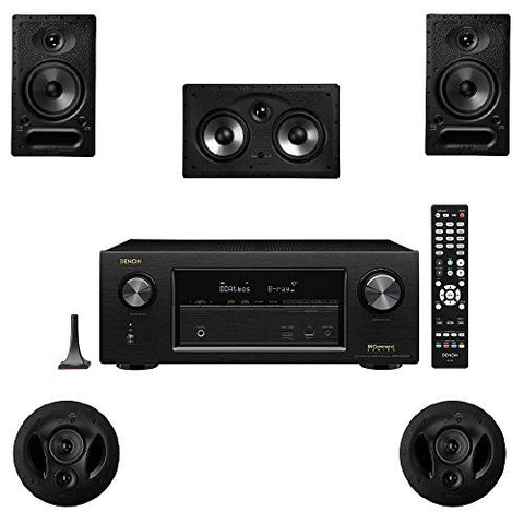 Polk Audio 65-RT 5 Channel Speaker Package with 90-RT and Denon AVR-X2300W AV Receiver - Super Electronics Warehouse