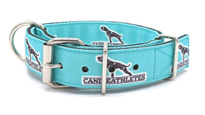 "Canine Athletes Turquoise Heavy Duty 1.5"" Working Dog Collar Collars canine-athletes"