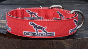 "Canine Athletes 1.5"" Red Dog Collar"