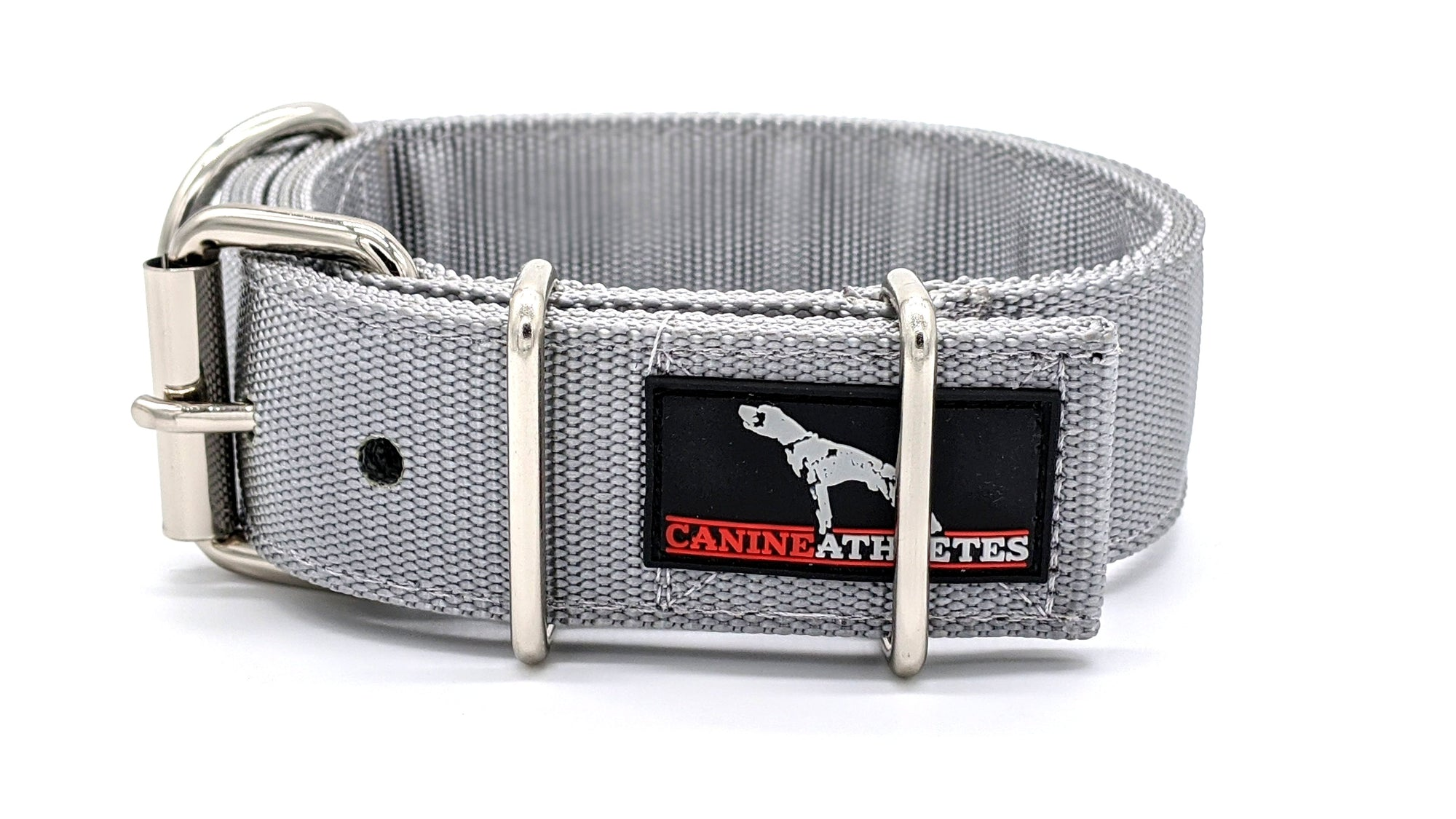 "Canine Athletes Silver 1.5"" Elite-HD Working Dog Collar Collars canine-athletes"