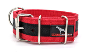 "Canine Athletes Red/Black 2"" Elite-HD Working Dog Collar Collars canine-athletes"