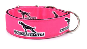 "Canine Athletes Hot Pink Heavy Duty 2"" Working Dog Collar"