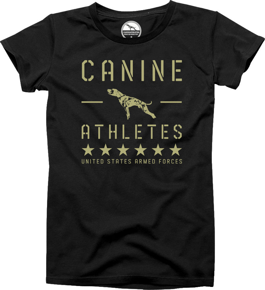 Canine Athletes Armed Forces Sueded T-Shirt