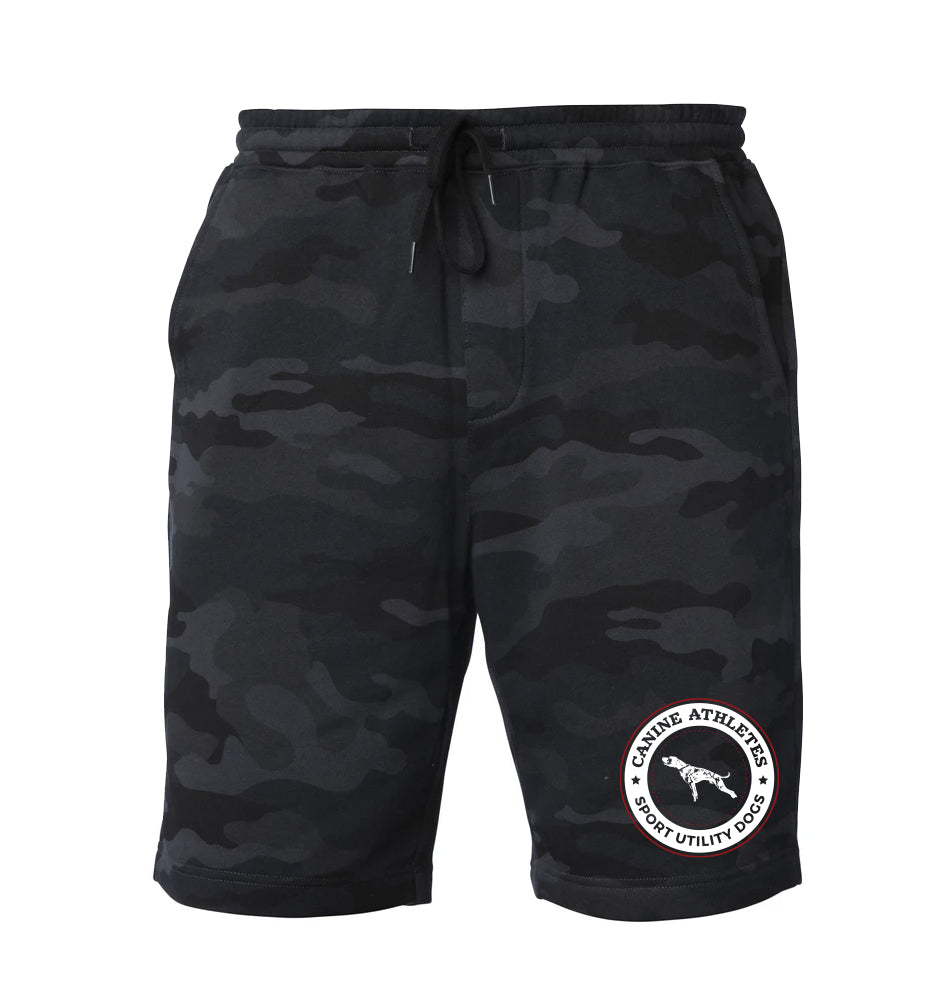 Canine Athletes Sport Utility Dogs Black Camo Sweat Short