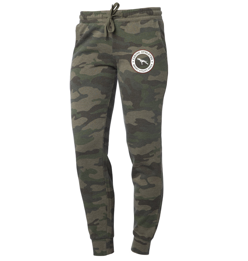 Canine Athletes Ladies Camo Joggers