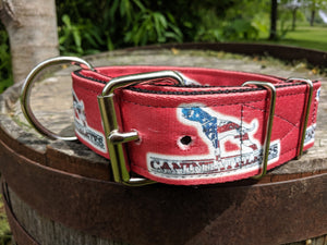 "Canine Athletes 2"" USA Red Dog Collar"