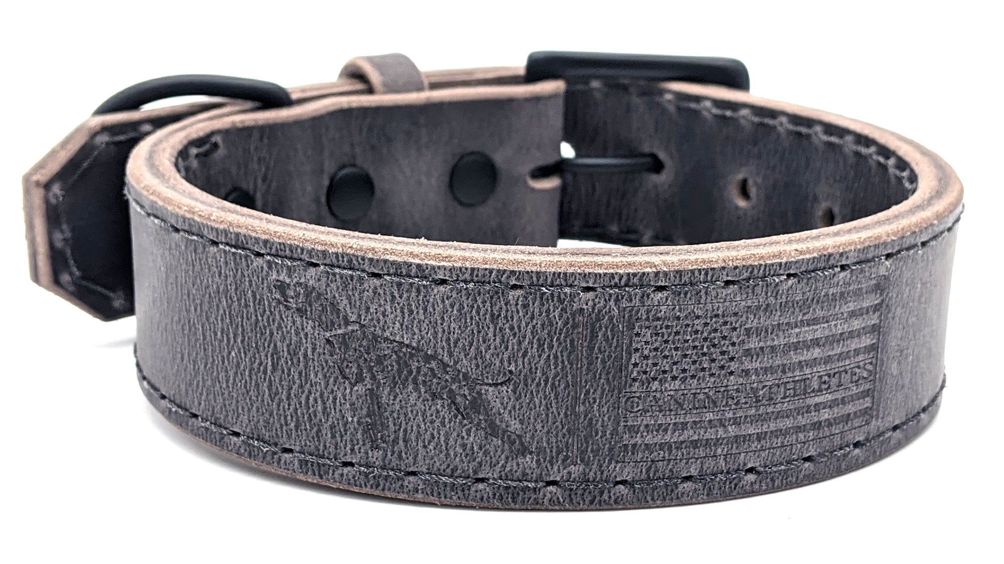 Canine Athletes Water Buffalo Leather Collar
