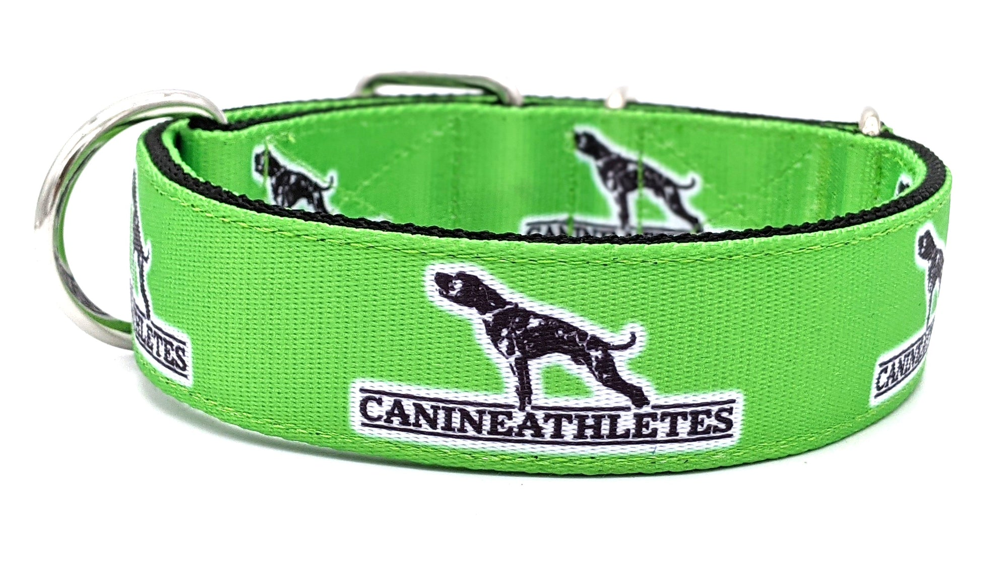 "Canine Athletes 1.5"" Lime Green Dog Collar"