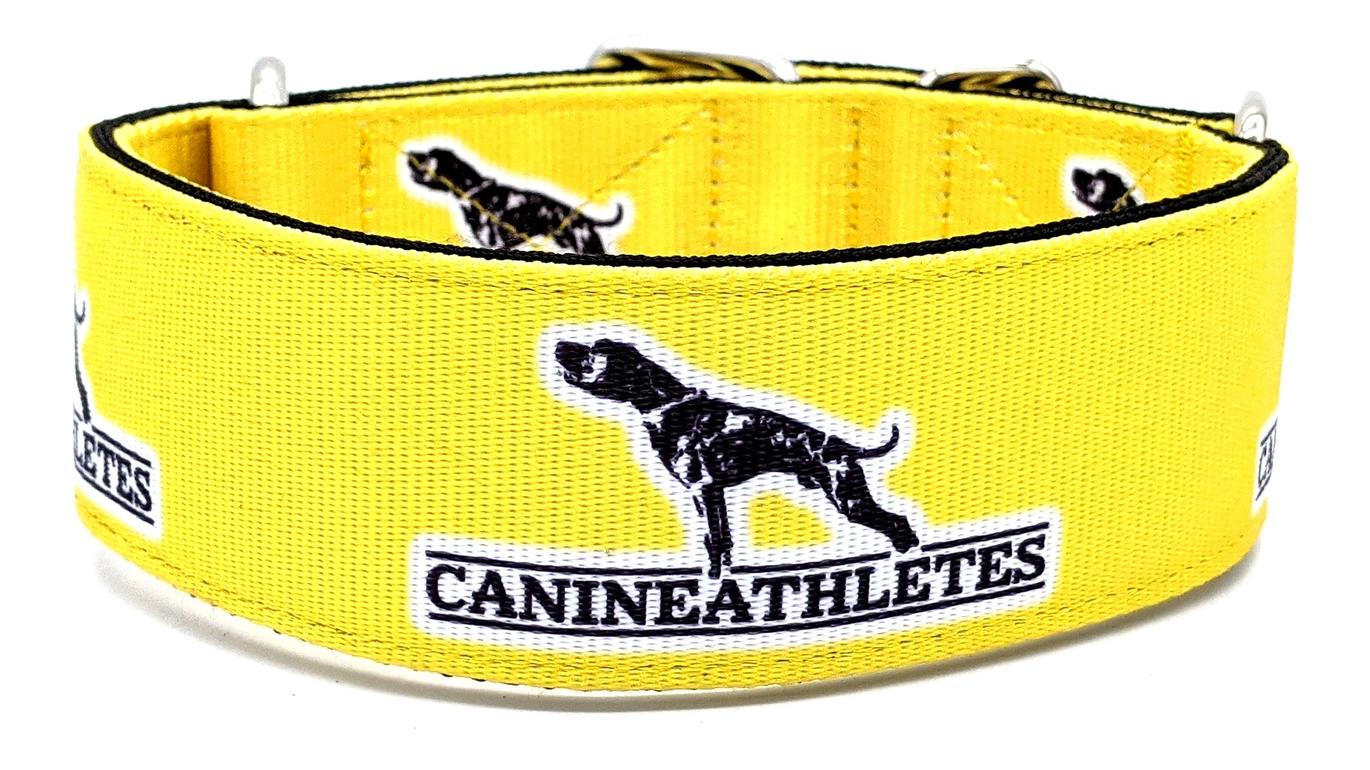 "Canine Athletes Electric Yellow Heavy Duty 2"" Working Dog Collar"