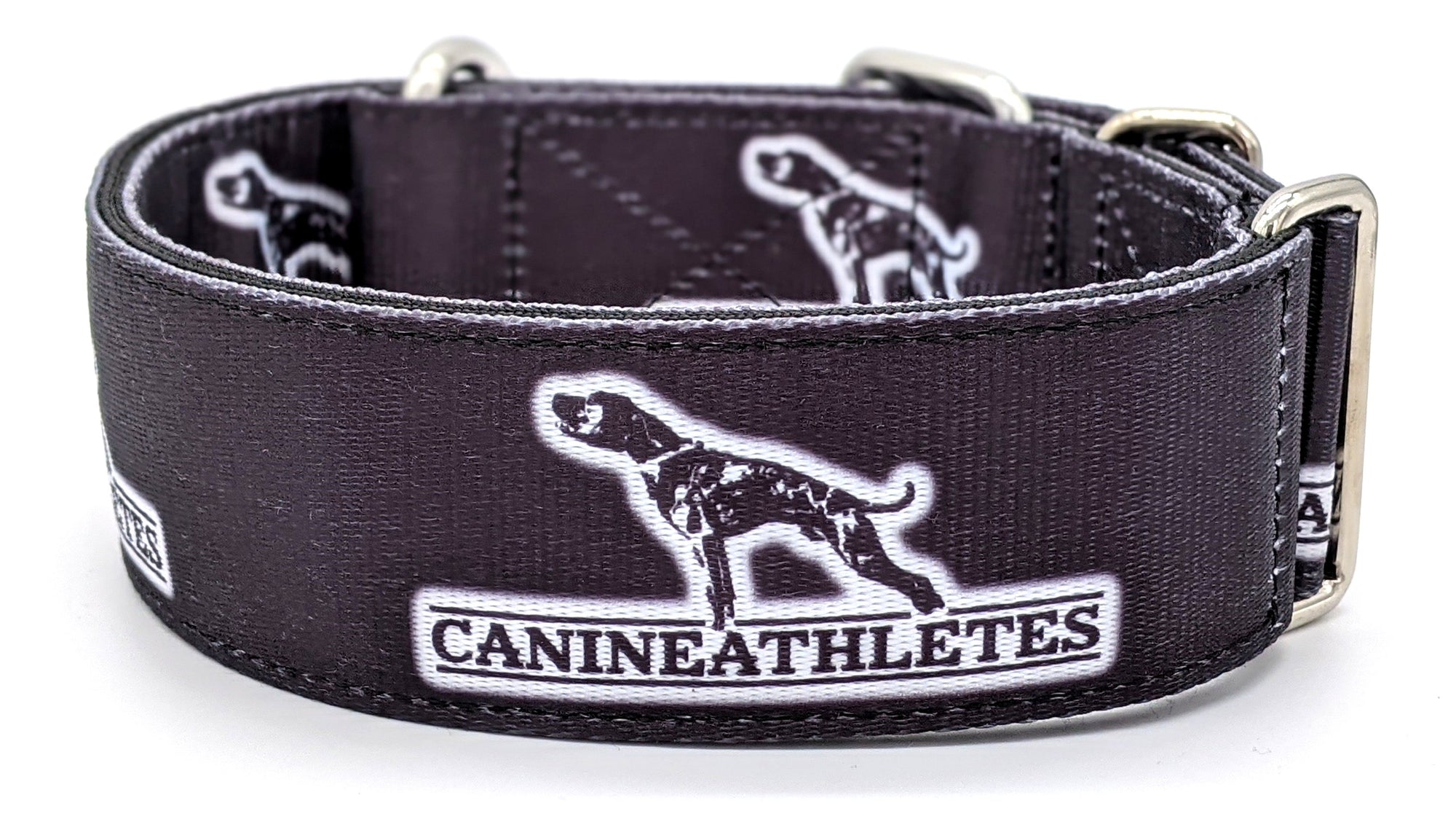 "Canine Athletes Black Heavy Duty 2"" Working Dog Collar"