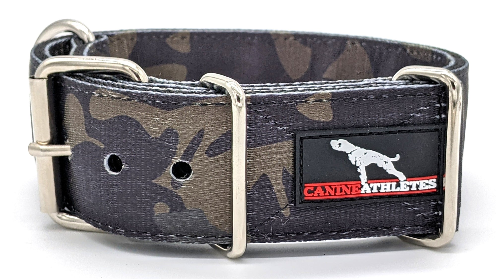 "Canine Athletes Black Camo 2"" Dog Collar"