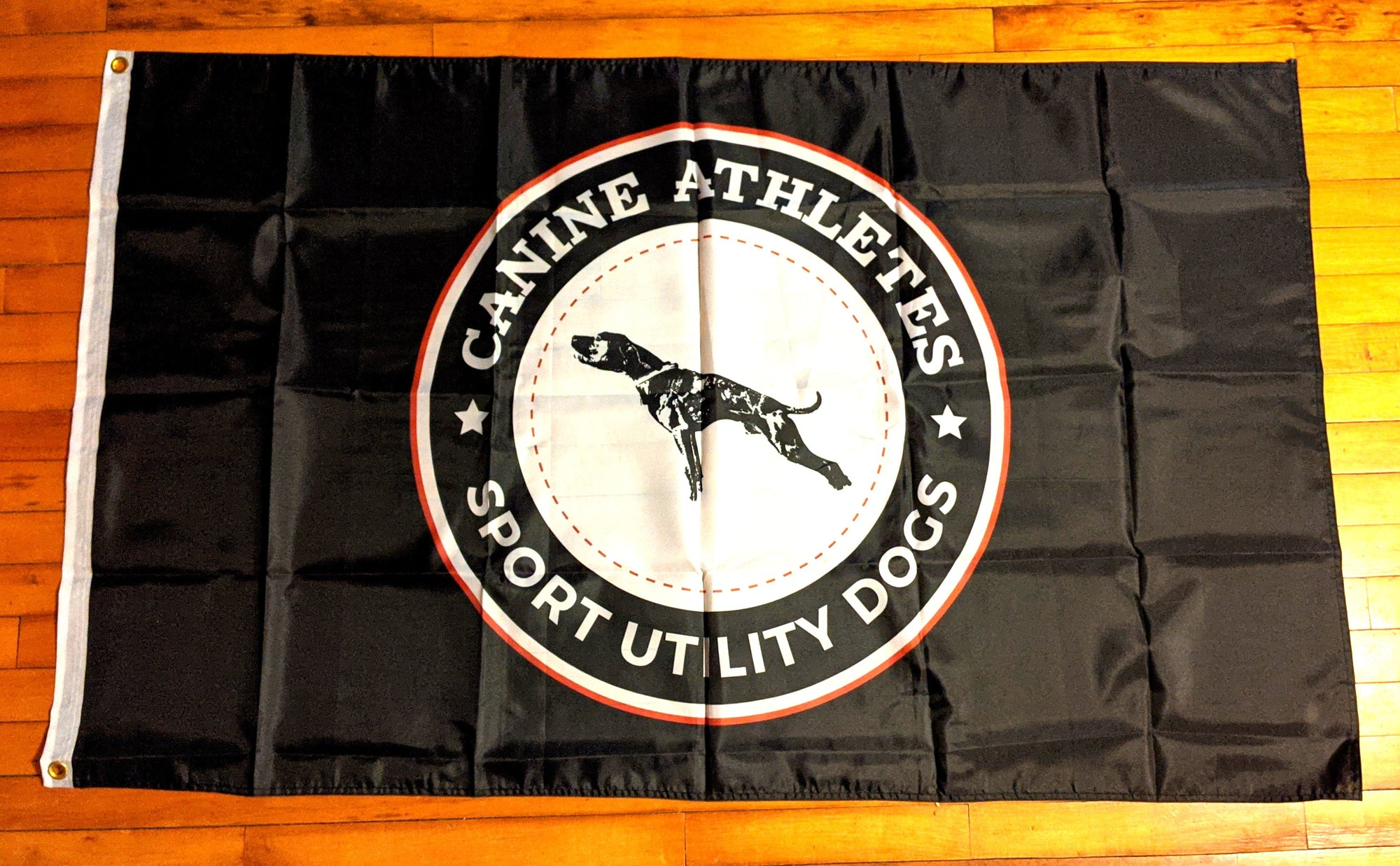 "Canine Athletes Sport Utility Dogs Flag (36""x60"")"