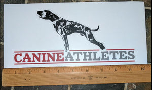 Canine Athletes Vinyl Decal - Matte Laminated