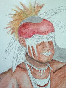 Painting the Cherokee Warrior