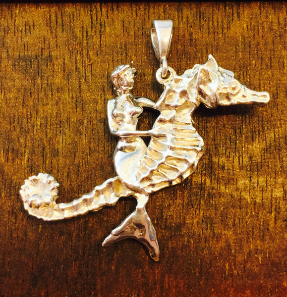 The Mermaid and the Seahorse Pendant - De Paula Original
