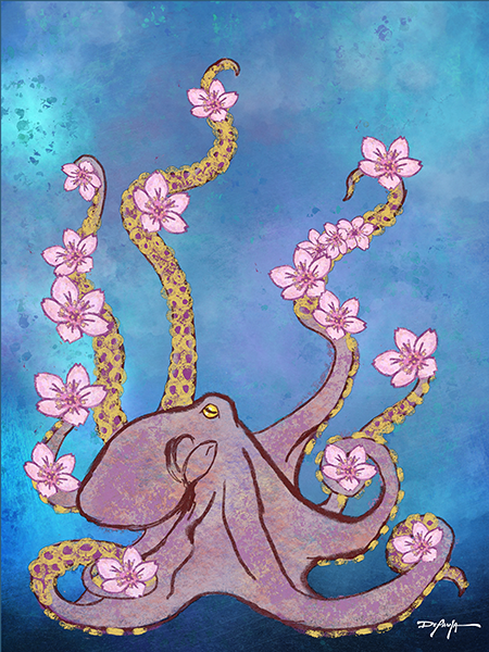 Octopus's Garden Fine Art Canvas