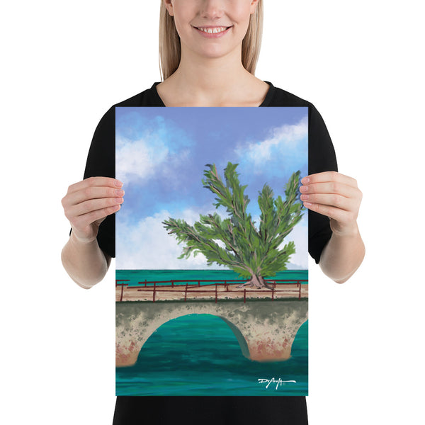 Fred the Tree Old 7 Mile Bridge Fine Art Print
