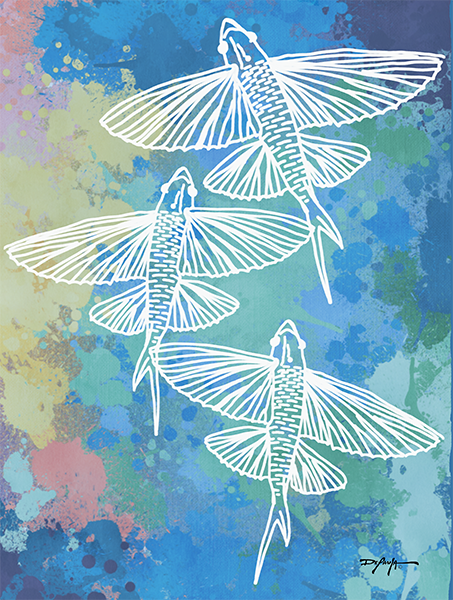 Flying Fish Fine Art Canvas
