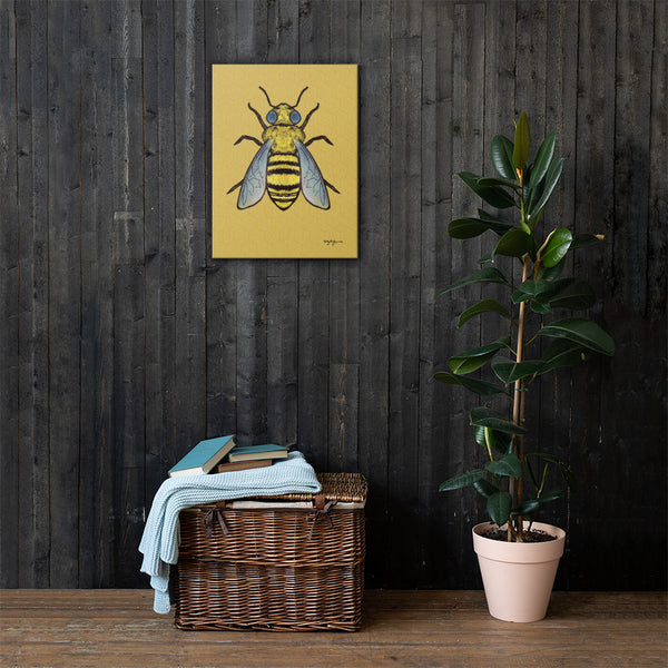 Honey Bee Study 1 Fine Art Canvas Print