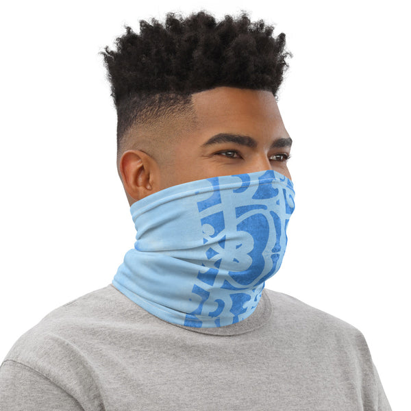 Blue Maori Face Mask Neck Gaiter