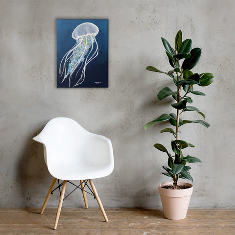 Coastal Art Gets Ethereal: Painting the Blue Jellyfish