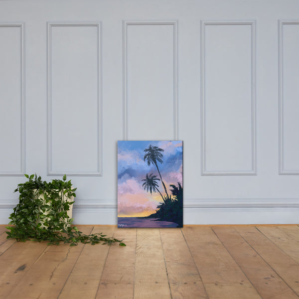 Beach at Dawn Fine Art Canvas