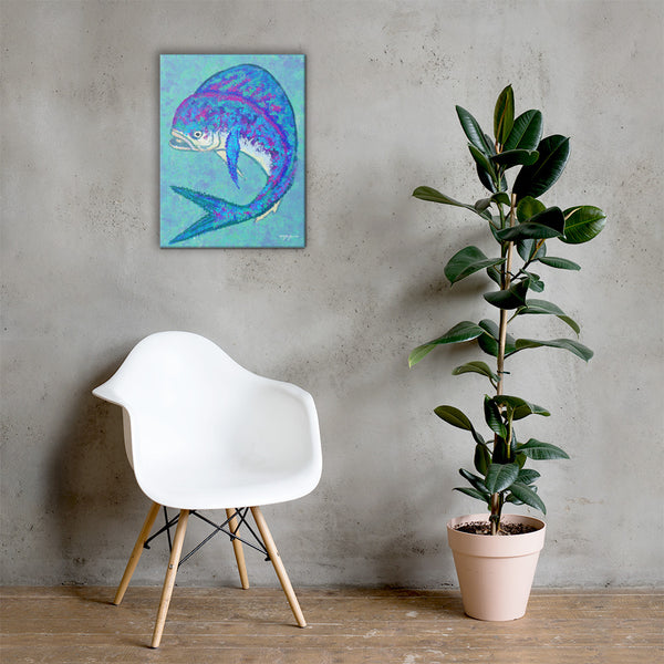 Mahi Blues Fine Art Canvas