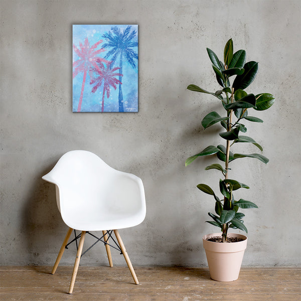 Vice Palm Fine Art Canvas Print