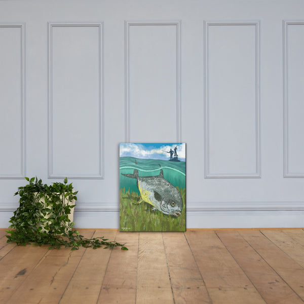 Permit Fish Flats Fishing Fine Art Canvas