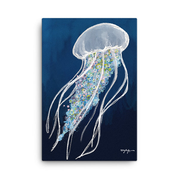 Blue Jellyfish Canvas