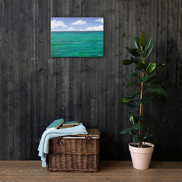 The Colors of Islamorada Waters Fine Art Canvas