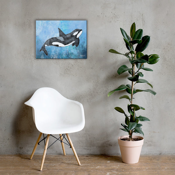 Impression Orca Killer Whale Fine Art Canvas Print