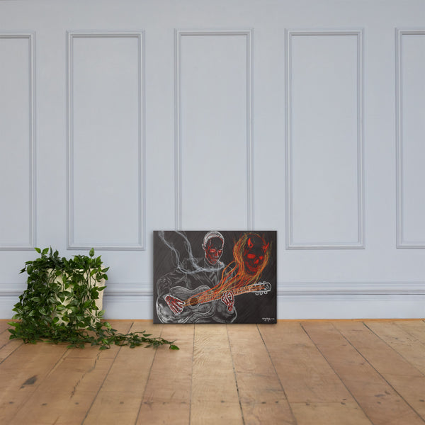 The Devil and the Crossroads Blues Fine Art Canvas