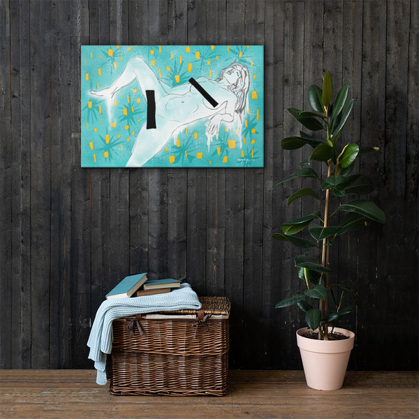 Safe For Your Viewing Pleasure Contemporary Fine Art Canvas