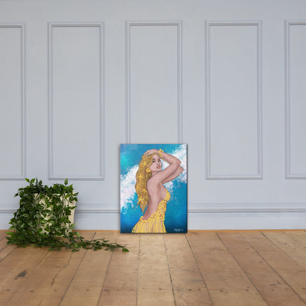 Shimmer Ocean Goddess Portrait Fine Art Canvas