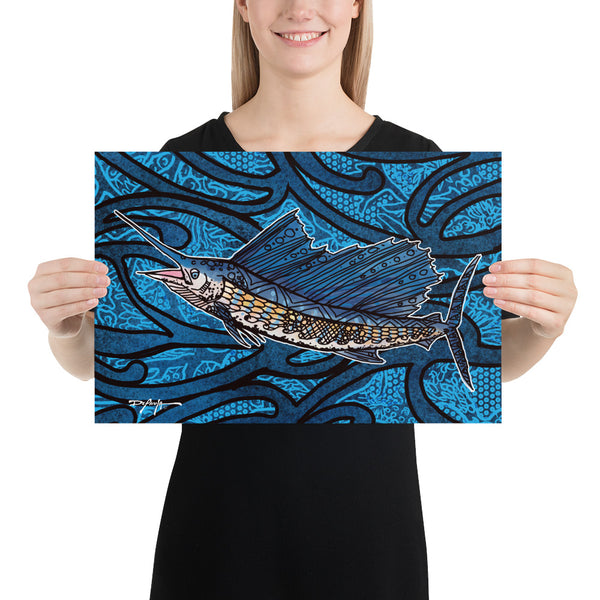 The Sailfish Tide Fine Art Print 12 x 18