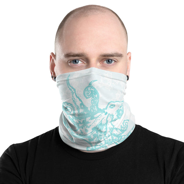 Larimar Octopus Face Mask Neck Gaiter