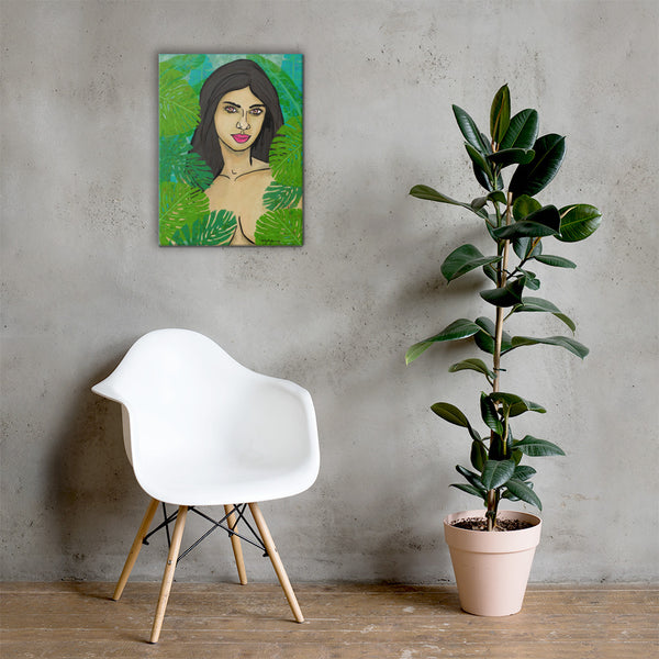 Flora and Fauna Fine Art Portrait Canvas