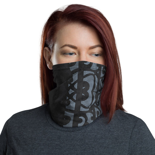 Black Maori Face Mask Neck Gaiter