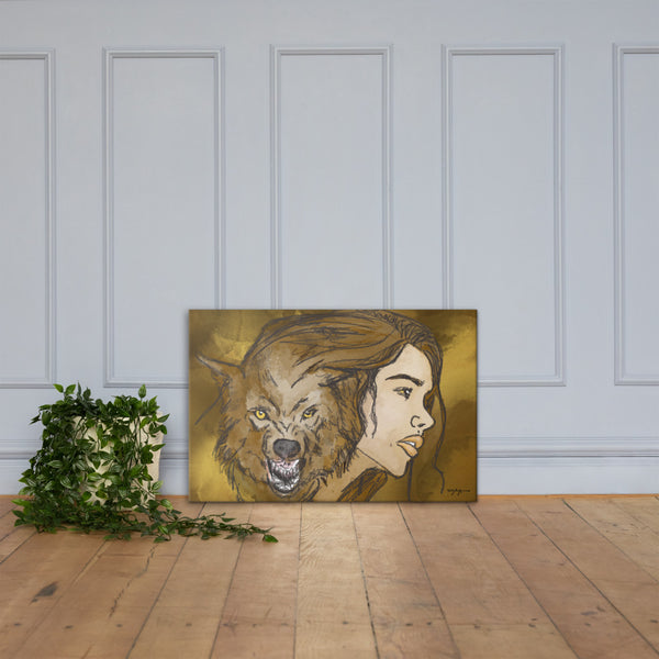 Fierce Contemporary Fine Art Canvas Print