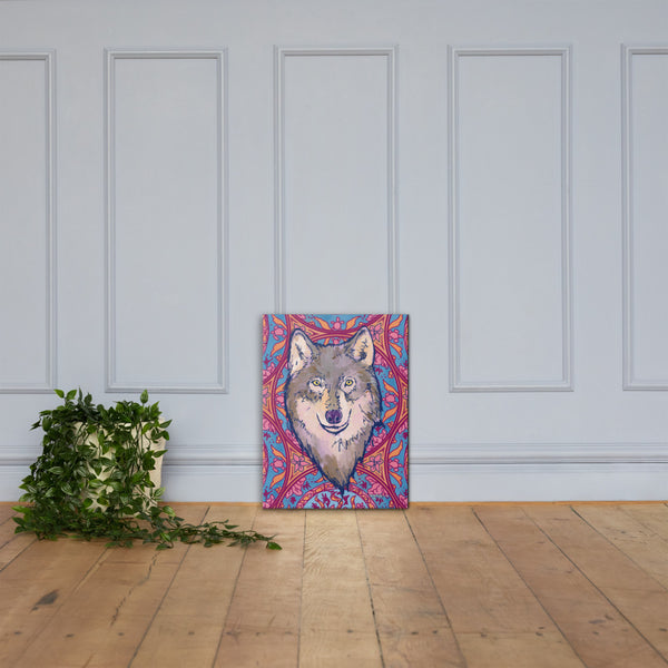 Wild Wolf Wildlife Fine Art Canvas Print