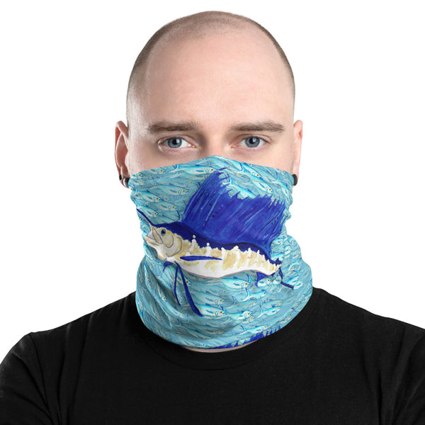 Sailfish Bait Ball Face Mask Neck Gaiter