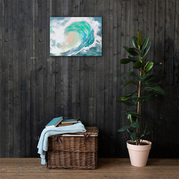 Tropical Wave Fine Art Canvas