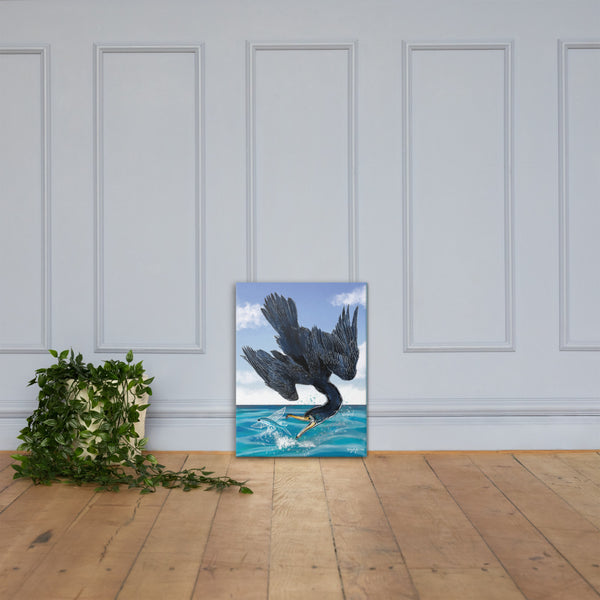 Fishing Cormorant Fine Art Canvas