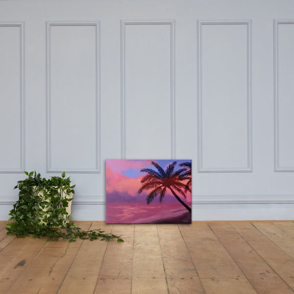 Peaceful Sunset Fine Art Landscape Canvas