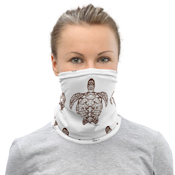 Sea Turtles Outline Face Mask Neck Gaiter