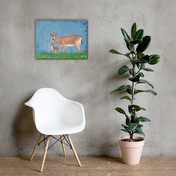 Key Deer Fine Art Canvas Print