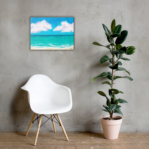 Caribbean Blues Fine Art Canvas